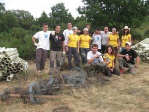 Voluntarios de SEO/BirdLife que colaboran con el Proyecto LIFE+ Urogallo Cantábrico.