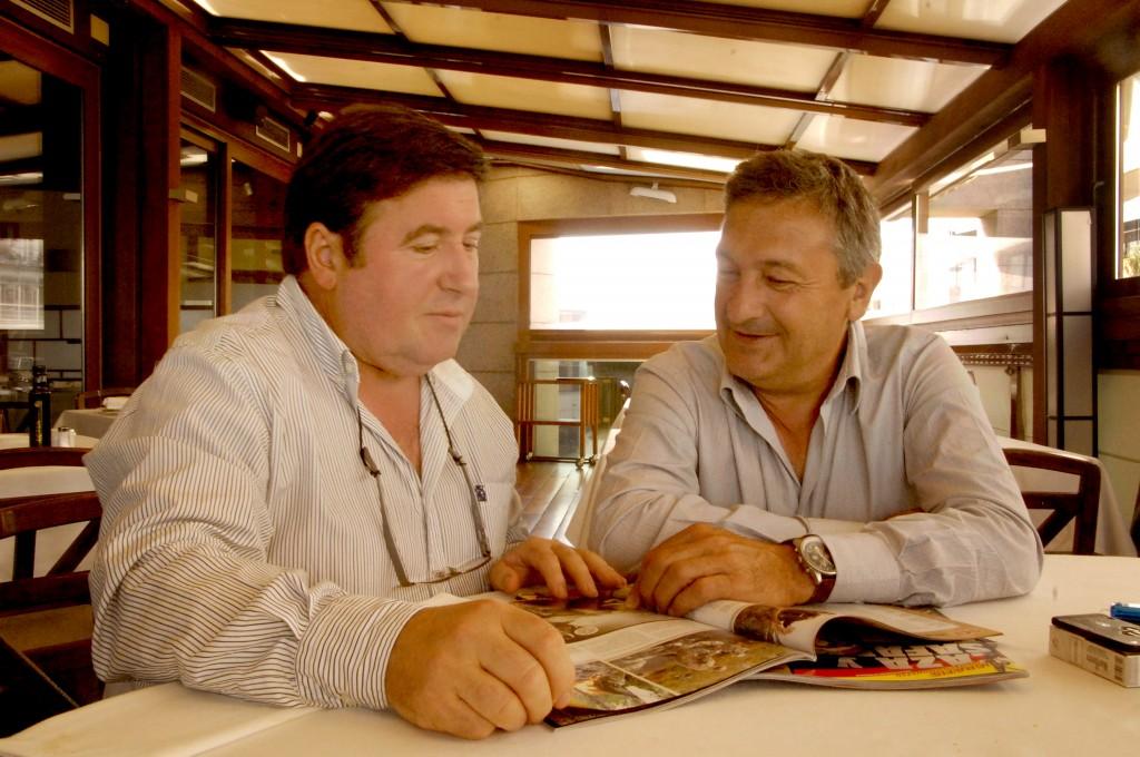 Un almuerzo informal con Jose Ángel Aguinaga y Luis Miguel Martín