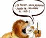 Mariano, el león y un compañero 'despistado'