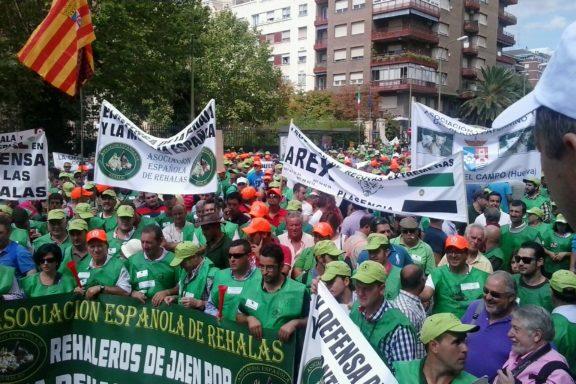 momento de unidad manifestación AER