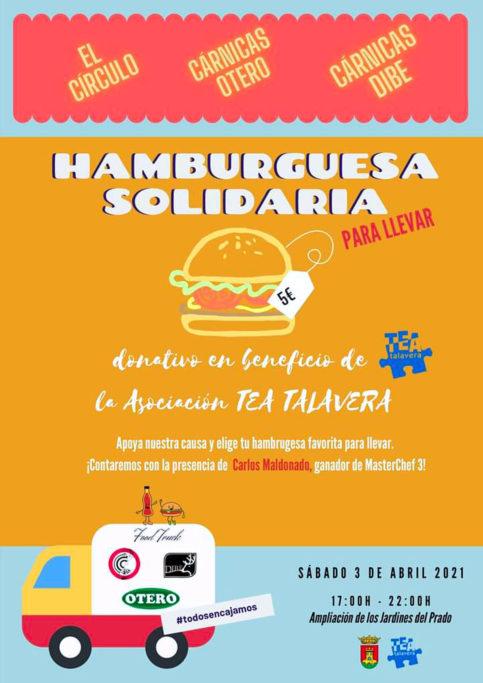 Hamburguesa Solidaria. Dibe. Carlos Maldonado